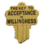 The key to acceptance is willingness